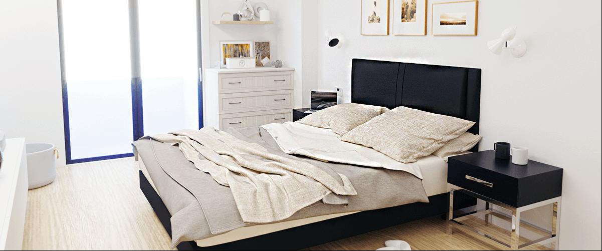 inspirasi kamar tidur apartemen